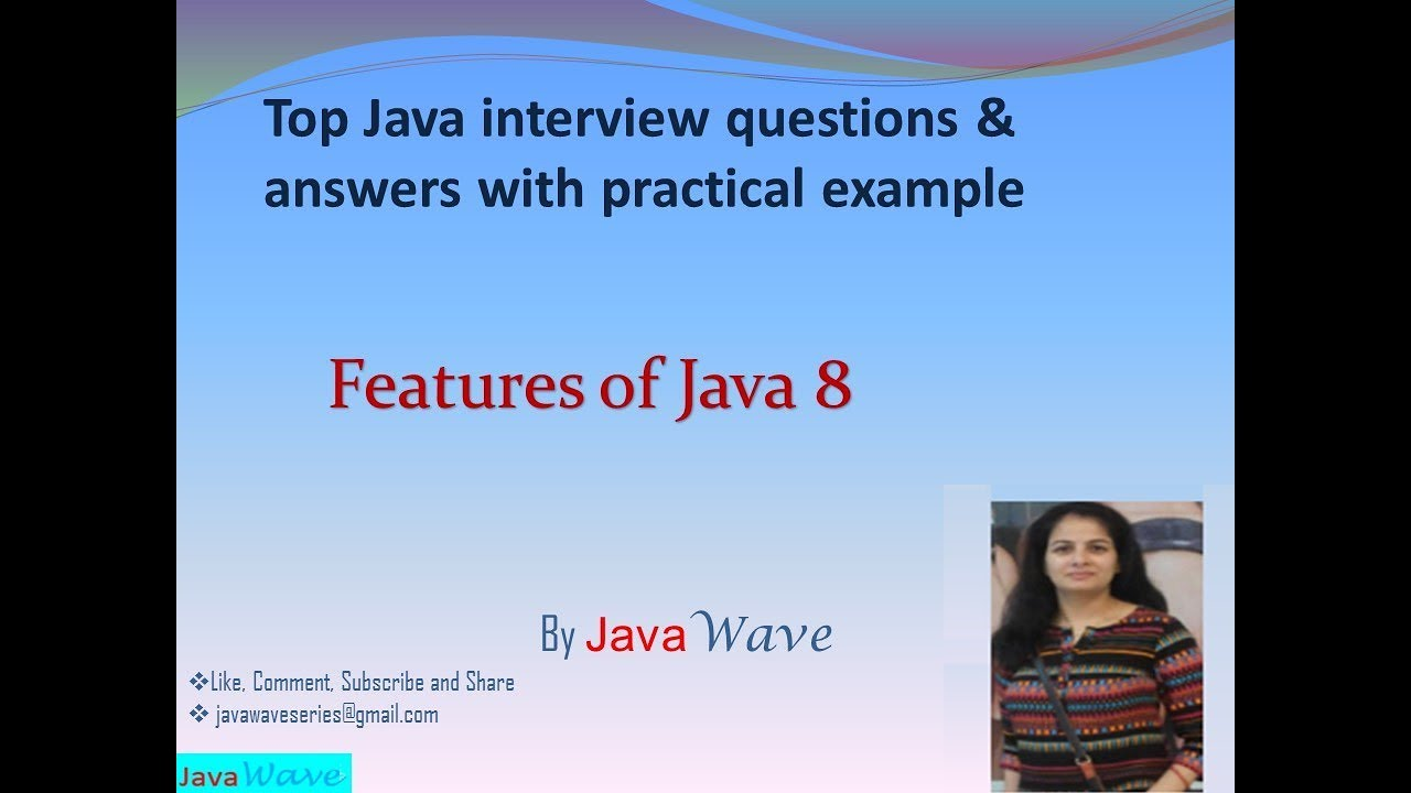 Features of Java 8 | Core java interview questions