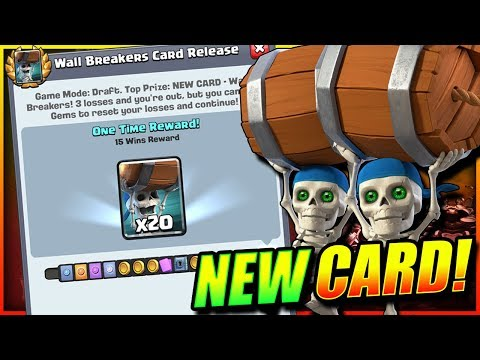 15 WINS WALL BREAKER CHALLENGE!! NEW CARD UNLOCKED!! - Clash Royale