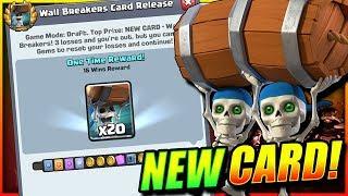 15 WINS WALL BREAKER CHALLENGE!! NEW CARD UNLOCKED!! - Clash Royale