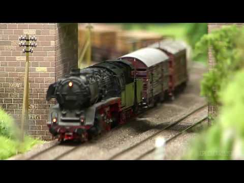 Fantastic Steam Locomotive Model Train Layout in HO Scale