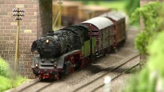 Steam Locomotive Model Train Layout