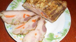 Щековина запеченная в фольге Вкусный рецепт запеченного свиного сала