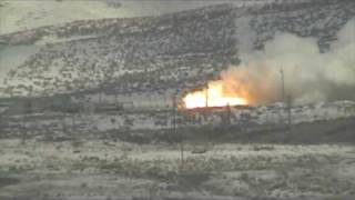 Space Shuttle Solid Rocket Booster Test Fire