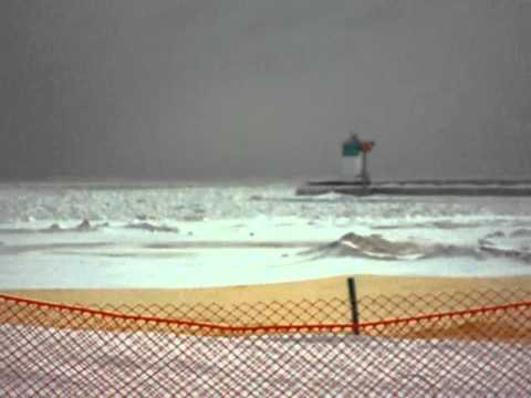 Waukegan Beach after snow storm