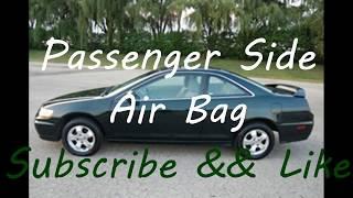 Replace Passenger Side Air Bag 2001 Honda Accord