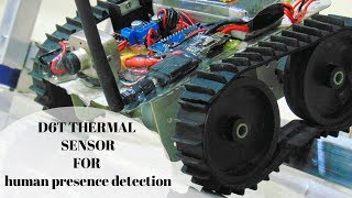 D6T Thermal Sensor||  alive human body detection and tracking robot