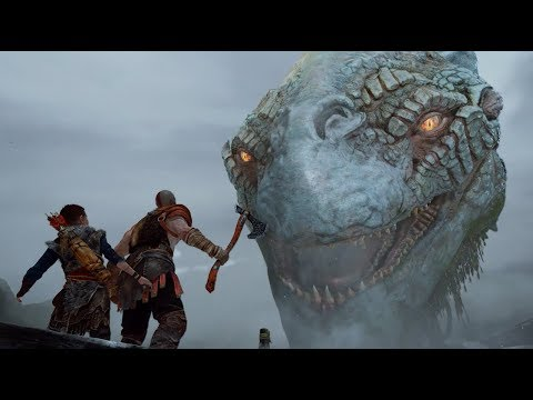 God of War (PS4) - Bosses: Brenna Daudi & Ogre (Hard Mode) / Meeting the Witch and The World Serpent