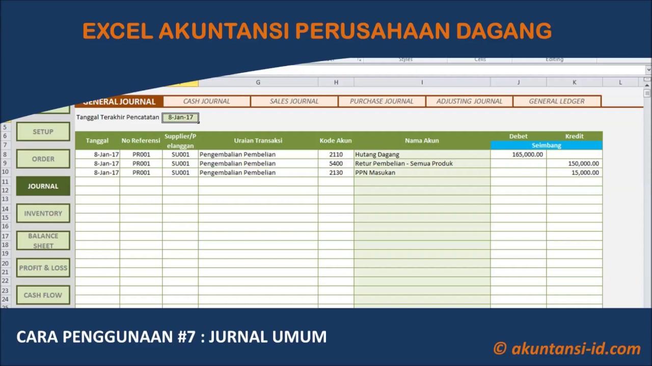 Excel Akuntansi Perusahaan Dagang Akuntansi Id
