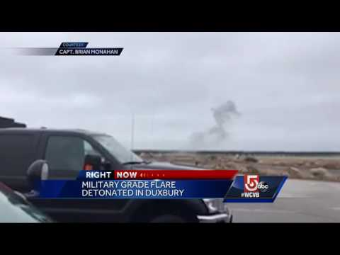Bomb squad detonates military device in Duxbury