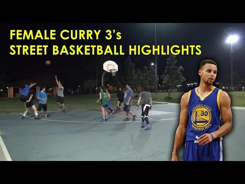 Female 'Stephen Curry' Raining 3's - COED Street Basketball Highlights