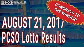 PCSO Lotto Results Today August 21, 2017 (6/55, 6/45, 4D, Swertres & EZ2)