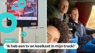 Siham rijdt mee in een truck op de Dag van de Vrachtwagenchauffeur