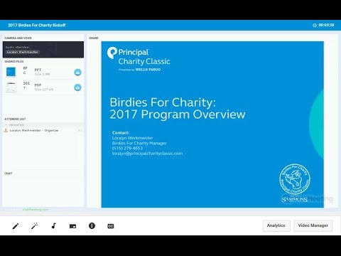 2017 Birdies For Charity Kickoff Webinar