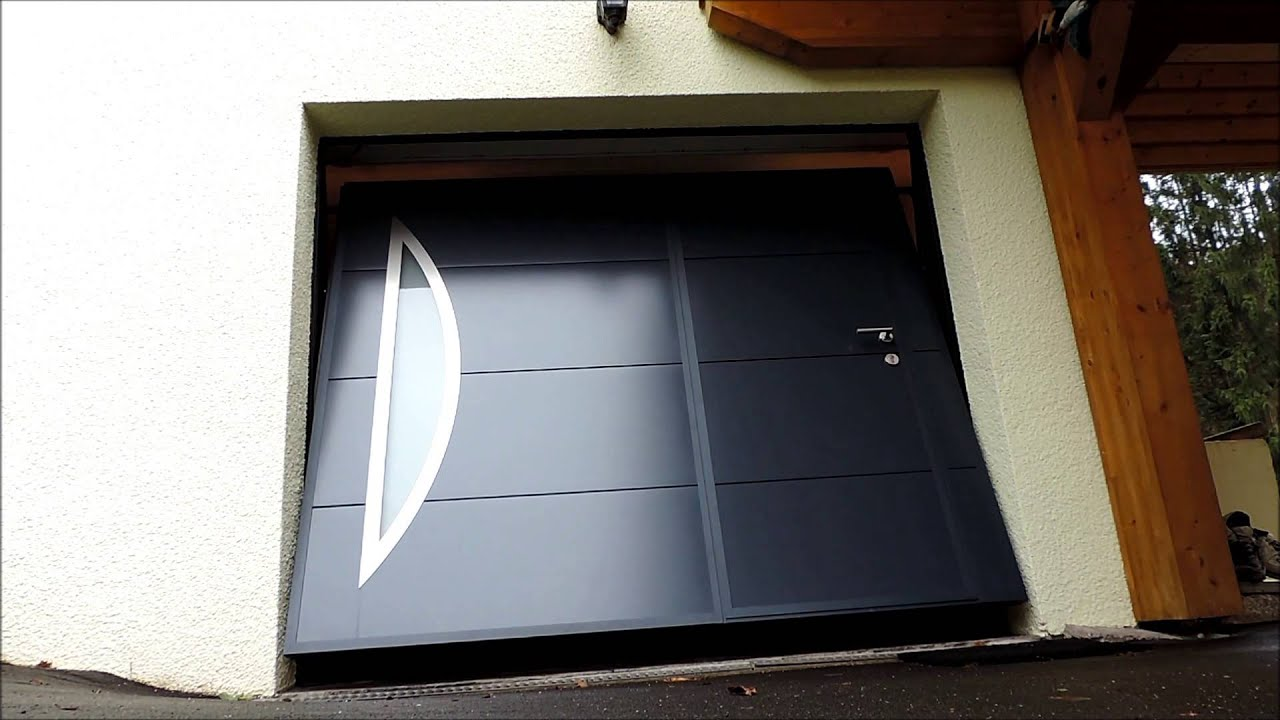 OuvertureFermeture Porte Basculante YouTube - Porte de garage basculante avec portillon