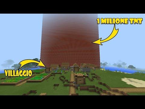 COSA SUCCEDE SE...FAI ESPLODERE 1 MILIONE DI TNT: Minecraft Pe