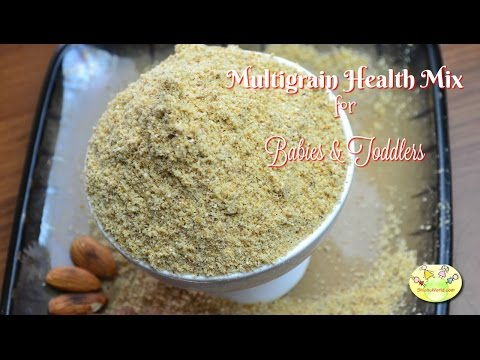 Multigrain Health Mix for babies, kids| Sathu Mavu| Uggu | Homemade Cerelac| Indian Baby Food Recipe
