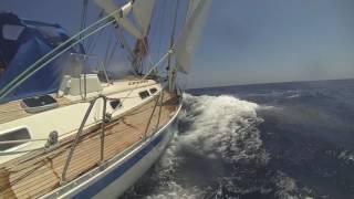 Bella, Sweden Yachts 50, aan de kust van Estepona