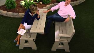 Convert-a-bench Ultra Ii Outdoor 2-in-1 Bench-to-table W/5 Year Lmw With Kerstin Lindquist