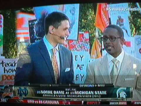 "Desmond Howard Gives Spartans ""No love just a pick"""