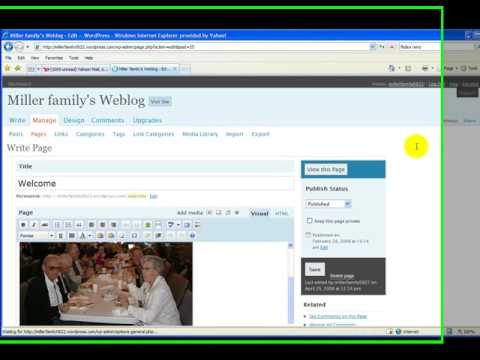 how to create static page in wordpress
