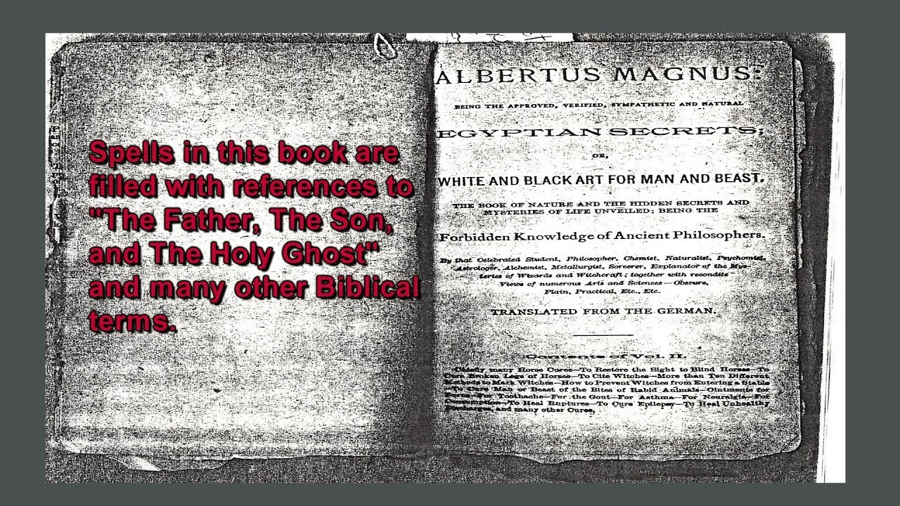 Egyptian Secrets, Occultic Spell Books, White & Black Magic, Witchcraft,  Albertus Magnus