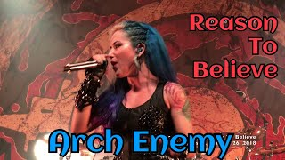 "Shot on iPhone X: Arch Enemy performing ""Reason To Believe"" at ""Tur..."