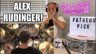 Drum Teacher Reacts: ALEX RUDINGER - 'Xenochrist' Drum Playthrough   (2020 Reaction)