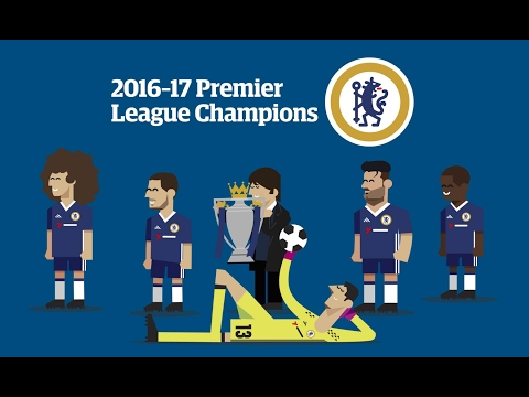 How the 2016-17 Premier League title was won by Chelsea – video