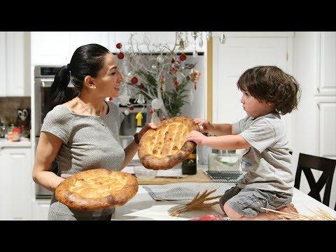 Մատնաքաշ - Armenian Flatbread Matnakash Recipe - Heghineh Cooking Show in Armenian
