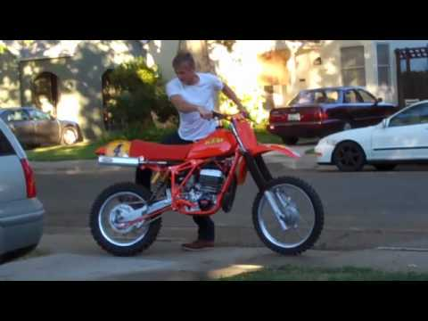 1981 Ktm 495 Cold Start And Run Youtube