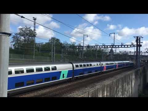 Passage TGV Duplex Atlantique 29783 TGV 8806 Nantes Paris Montparnasse à Massy TGV