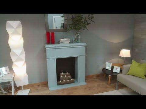 C mo hacer una chimenea decorativa bricoman a youtube - Como construir una chimenea paso a paso ...