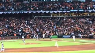 2012 NLCS - SF GIANTS vs St. Louis CARDINALS game 7 highlights @ AT&T Park