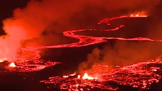 very hot molten matter in river