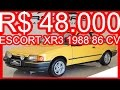 PASTORE R$ 48.000 Ford Escort XR3 1988 Amarelo Citrino aro 14 MT5 1.6 Álcool 86 cv 12,9 kgfm #ESCORT
