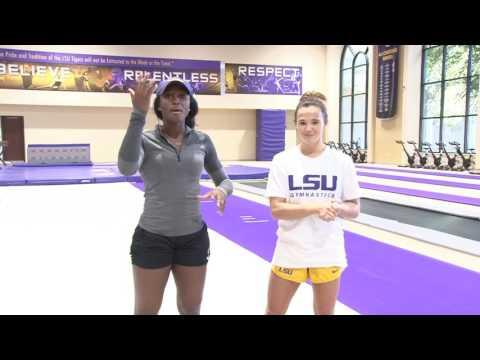 My way with A.J. vs LSU Gymnastics Ashleigh Gnat