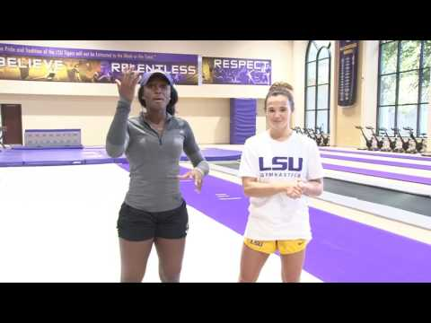 My way with A.J. vs LSU Gymnastic\'s Ashleigh Gnat