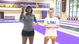 My way with A.J. vs LSU Gymnastic\'s Ashleigh Gnat