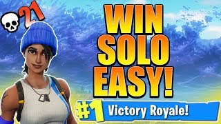 HOW TO WIN MORE SOLO GAMES! HOW TO GET BETTER AT FORTNITE! (Fortnite Console Tips)