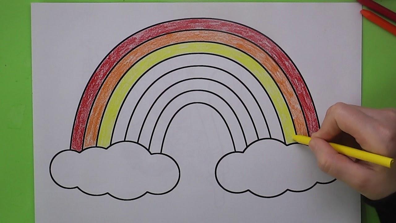 Gökkuşağı Boyama Gökkuşağı Nasıl Boyanır Coloring Rainbow Youtube