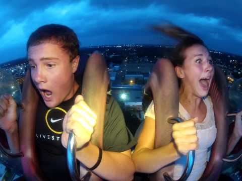 Myrtle Beach Slingshot: HD FUNNIEST REACTION EVER!