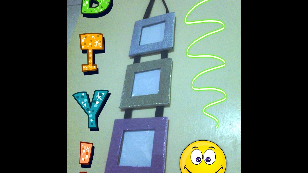 Diy hanging cardboard picture frames asm production youtube solutioingenieria Images