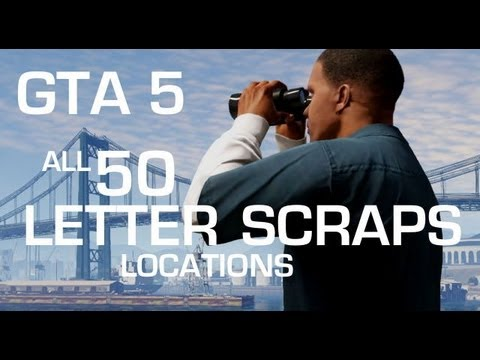 GTA 5: All 50 Letter Scraps Locations