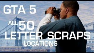 GTA 5: All 50 Letter Scraps Locations
