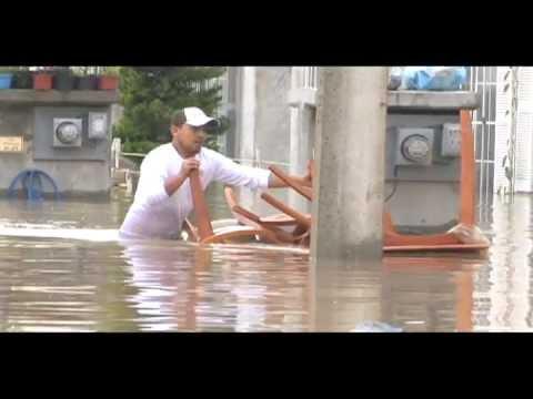 Enfrentan inundación de