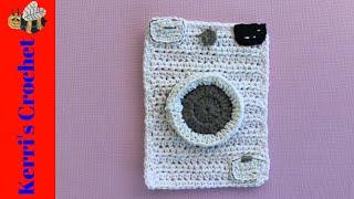 Crochet Washing Machine Tutorial - Crochet Applique Tutorial