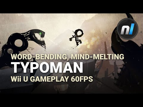 Mind-Melting Word-Based Puzzle Platforming | Typoman Wii U Gameplay 60fps