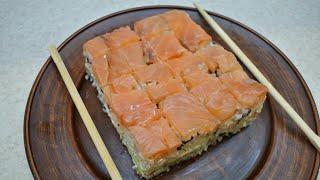 Салат суши от настоящих не отличить Суши торт Филадельфия