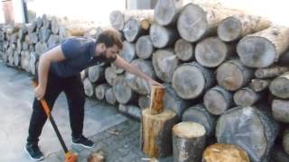 Titanium Spalthammer mit Alu Sicherheitskopf im Einsatz