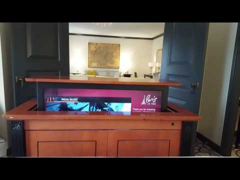 Paris Las Vegas Nice Penthouse Suite TV